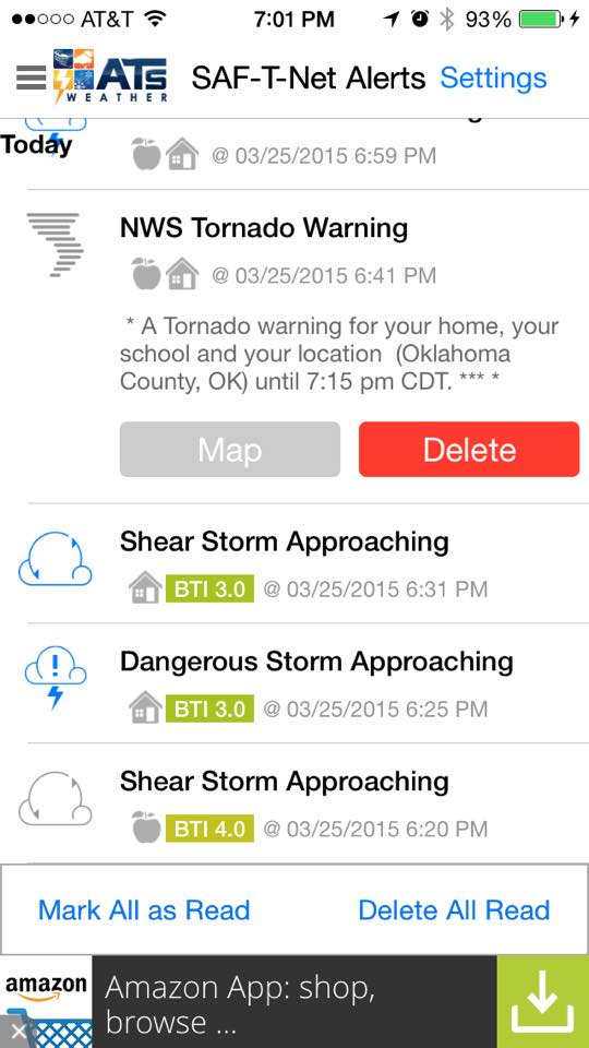 ATsWeatherToGo' Was the Only Weather App to Warn Moore OK of