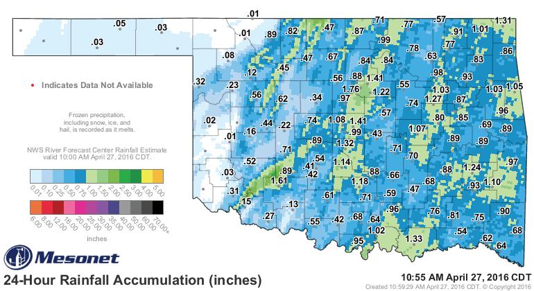 24 rainfall totals.