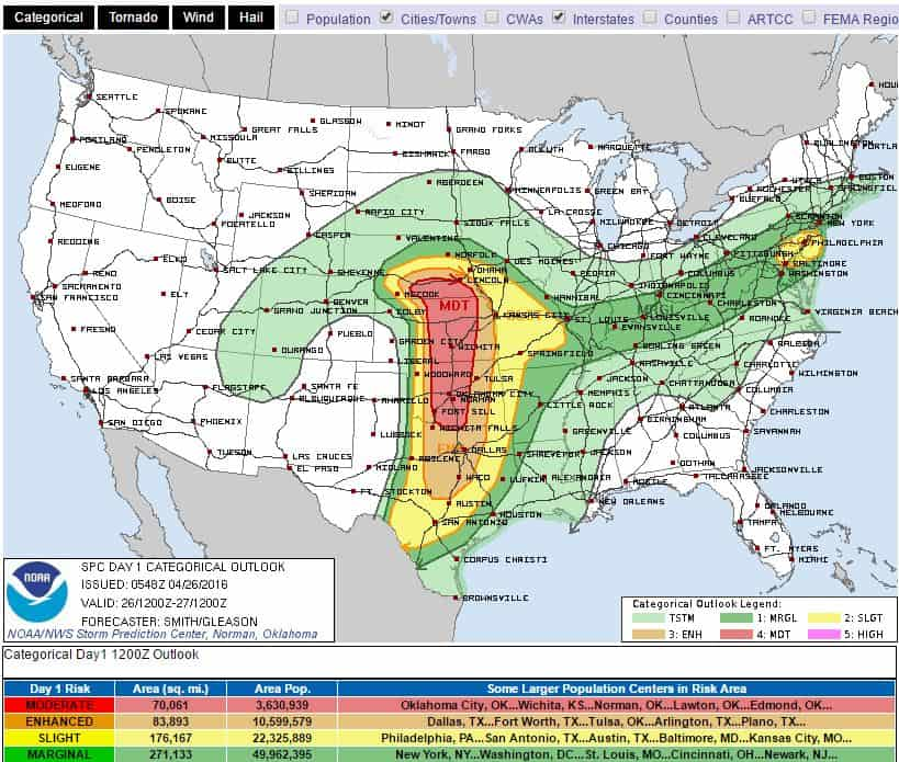 SPC risk for today.
