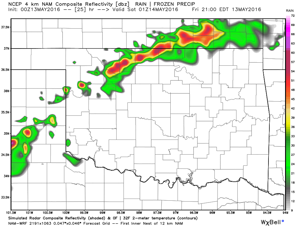 Storms Friday evening.
