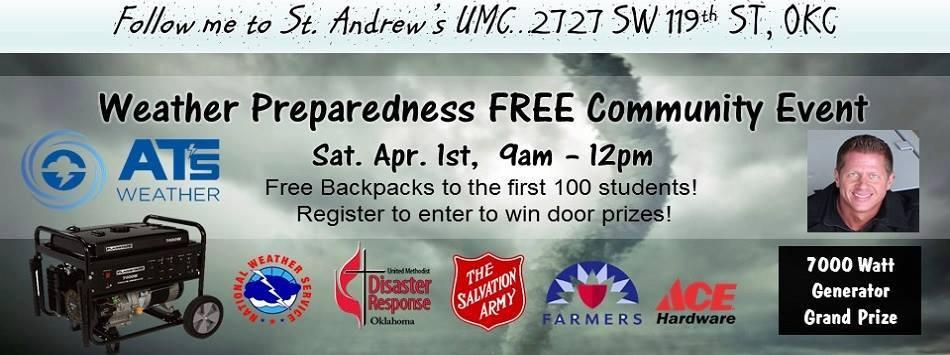 Severe Weather Preparedness Event This Saturday!