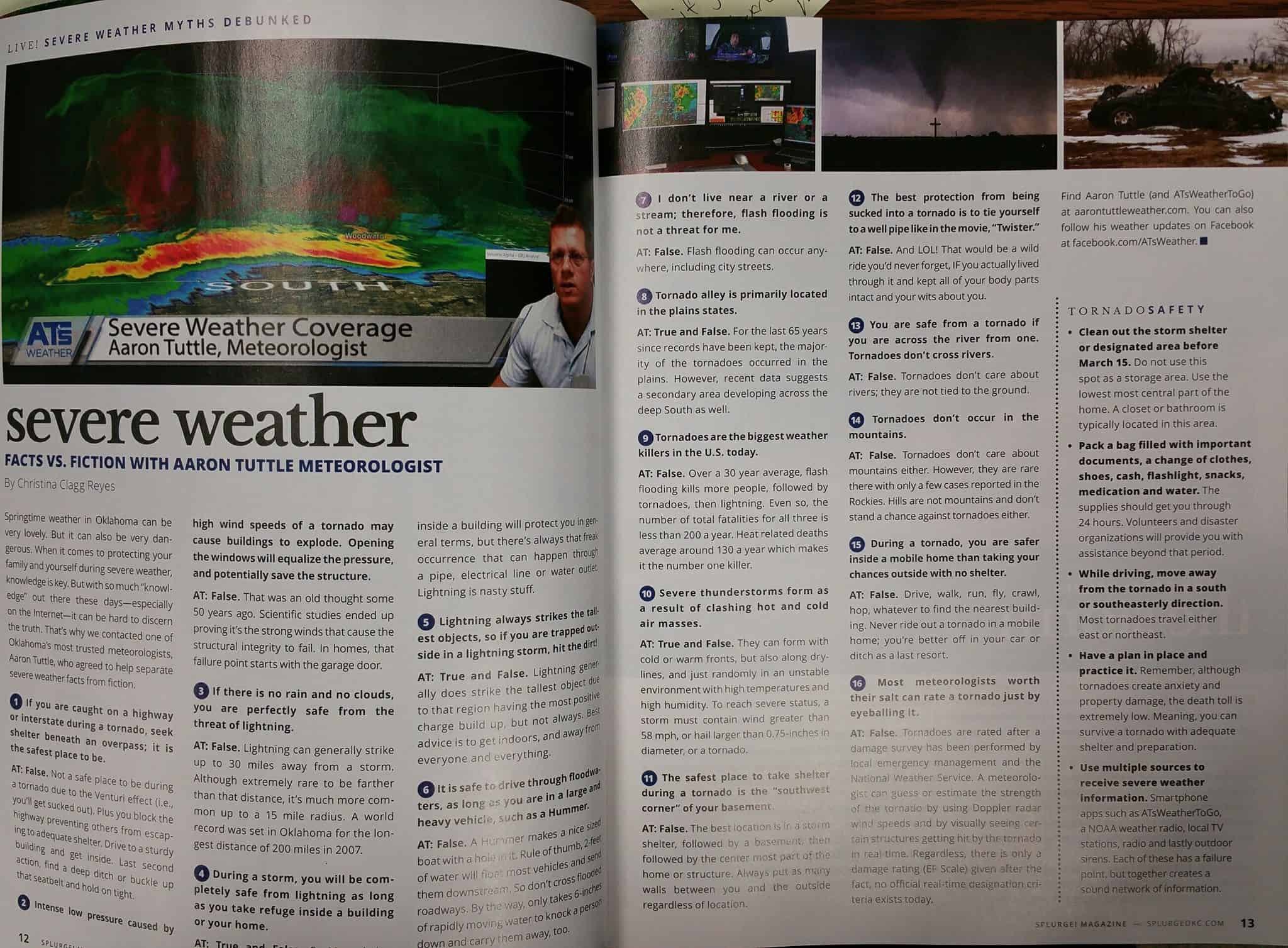 Separating Weather Fact from Fiction in Splurge! Magazine