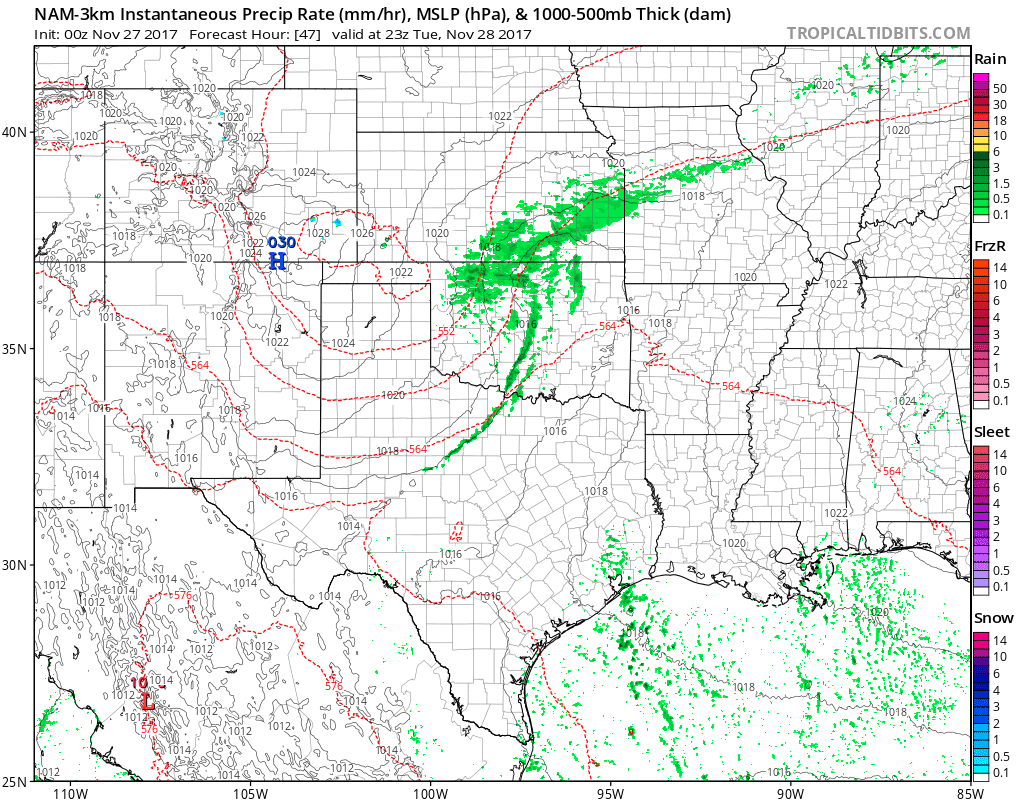 Next Cold Front and Rain Arrives Tuesday