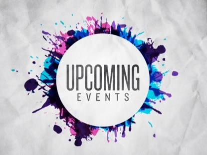 Upcoming Events this Week, Please Join Me!